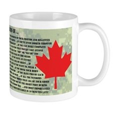 You Might Be in the Canadian Forces If... Small Mugs