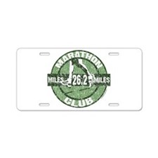 Marathon Club Aluminum License Plate