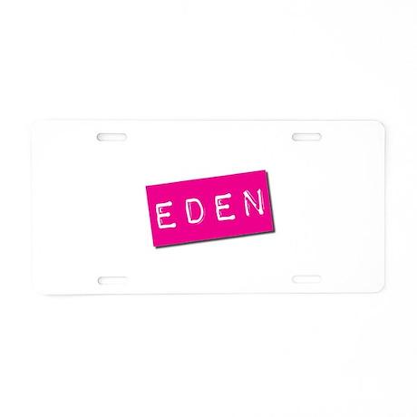 Eden Punchtape Aluminum License Plate