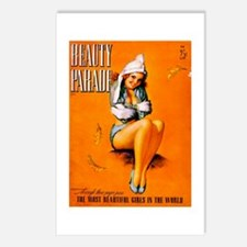 Beauty Parade Girl Pin Up Postcards (Package of 8)