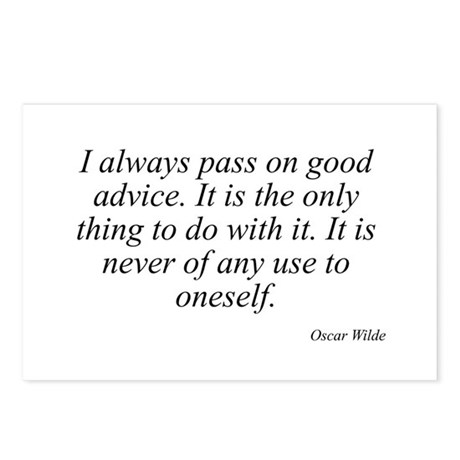 Oscar Wilde quote 2 Postcards (Package of 8)