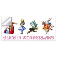 ALICE IN WONDERLAND & FRIENDS Wall Decal