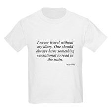 Oscar Wilde quote 10 Kids T-Shirt