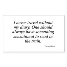 Oscar Wilde quote 10 Rectangle Decal