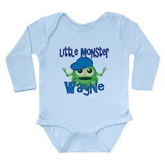 Little Monster Wayne Long Sleeve Infant Bodysuit