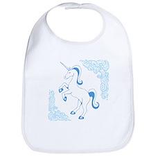 Blue Unicorn Bib