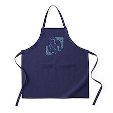 Blue Unicorn Apron (dark)