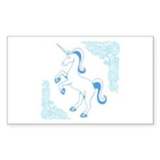Blue Unicorn Decal