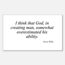 Oscar Wilde quote 16 Rectangle Decal