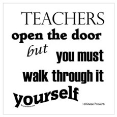 Teachers open the door...2 Canvas Art