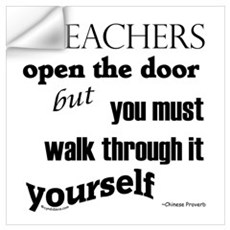 Teachers open the door...2 Wall Decal