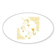 Gold Color Unicorn Decal