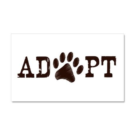 Adopt an Animal Car Magnet 20 x 12