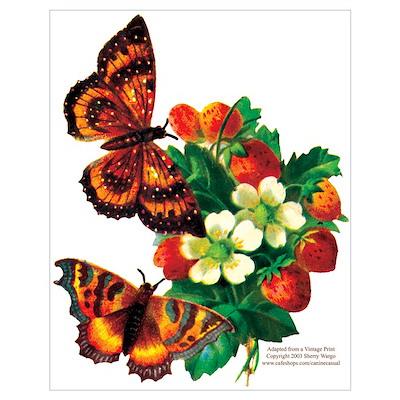 """""""Butterflies & Berries"""" ri Poster"""