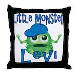 Little Monster Levi Throw Pillow