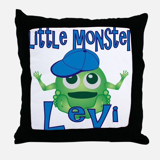 Little Monster Levi Throw Pillow