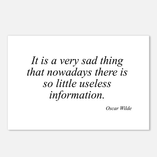 Oscar Wilde quote 31 Postcards (Package of 8)