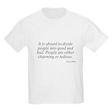 Oscar Wilde quote 32 Kids T-Shirt