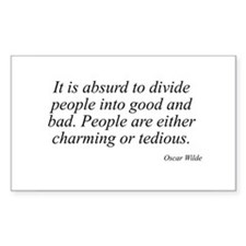 Oscar Wilde quote 32 Rectangle Decal