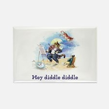 Cat and the Fiddle Rectangle Magnet