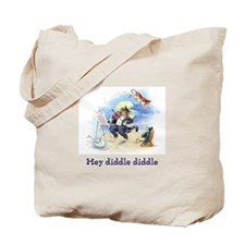Cat and the Fiddle Tote Bag