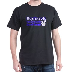 Squirrels Nature's Speed Bumps Black T-Shirt