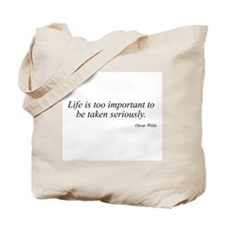 Oscar Wilde quote 46 Tote Bag