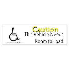 Caution Handicapped Bumper Bumper Sticker