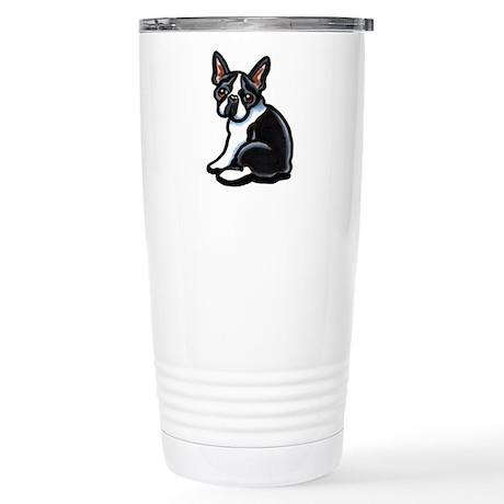 Cute Boston Terrier Stainless Steel Travel Mug