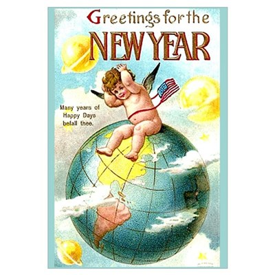 "Happy New Year #1 Big 11""x17"" Print Framed Print"