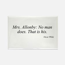 Oscar Wilde quote 56 Rectangle Magnet