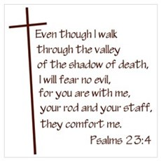 Psalms 23:4 Poster
