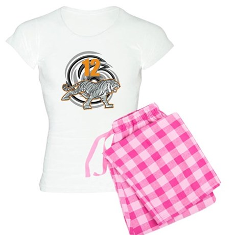 12th Birthday Tiger Women's Light Pajamas