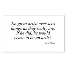 Oscar Wilde quote 60 Rectangle Decal