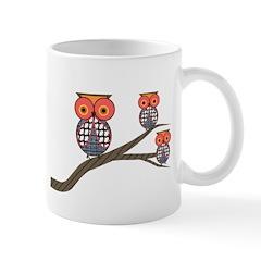 Retro Owls/Birds Mug