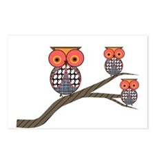 Retro Owls/Birds Postcards (Package of 8)
