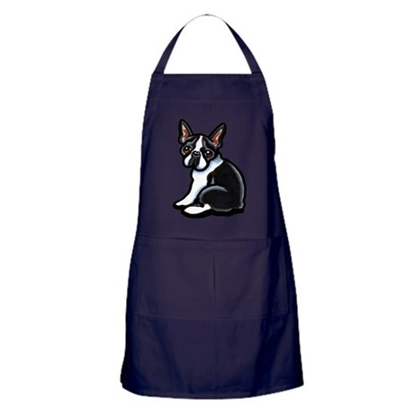 Cute Boston Terrier Apron (dark)