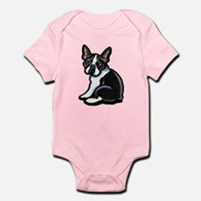 Cute Boston Terrier Infant Bodysuit