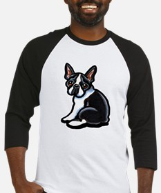 Cute Boston Terrier Baseball Jersey
