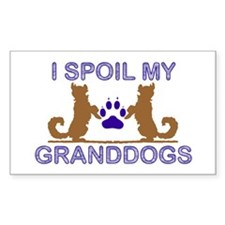 I Spoil My GrandDogs Decal
