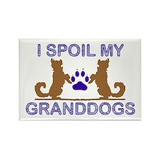 I Spoil My GrandDogs Rectangle Magnet