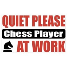 Chess Player Work Poster