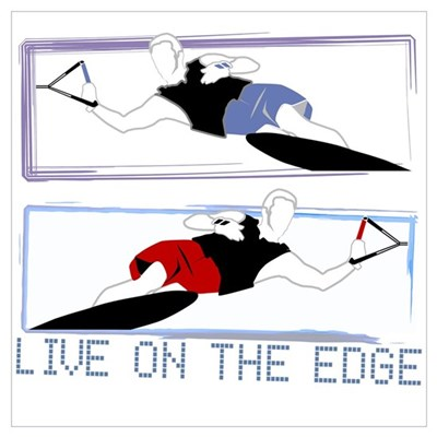 Live on the edge Slalom Canvas Art