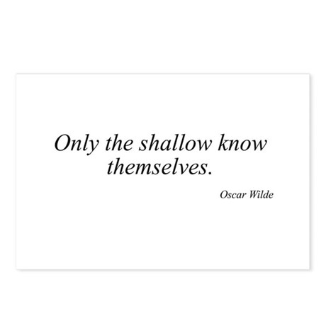 Oscar Wilde quote 76 Postcards (Package of 8)
