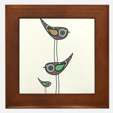 Retro Owls/Birds Framed Tile