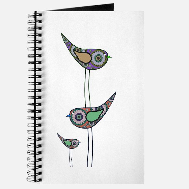 Retro Owls/Birds Journal