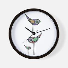 Retro Owls/Birds Wall Clock