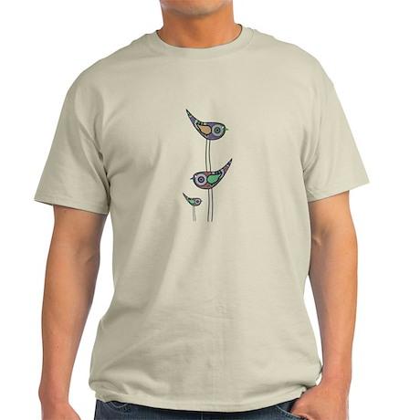 Retro Owls/Birds Light T-Shirt