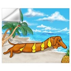 Wiener Dog Babe Wall Decal