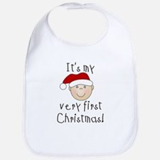 1st Christmas (white) Bib